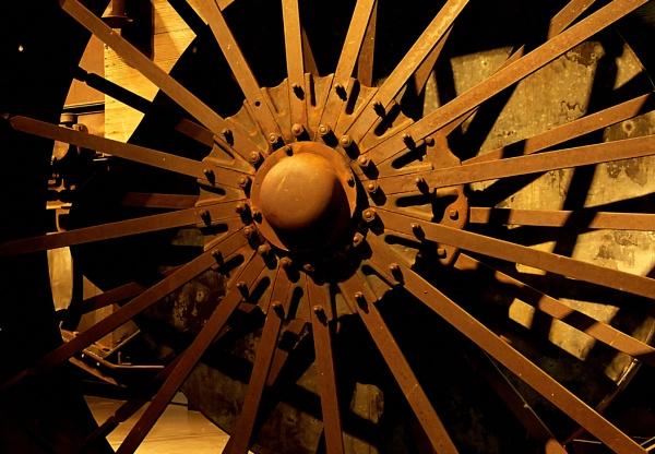 Large Iron Wheel.