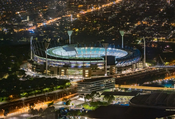 Melbourne Cricket Grounds from Up Above