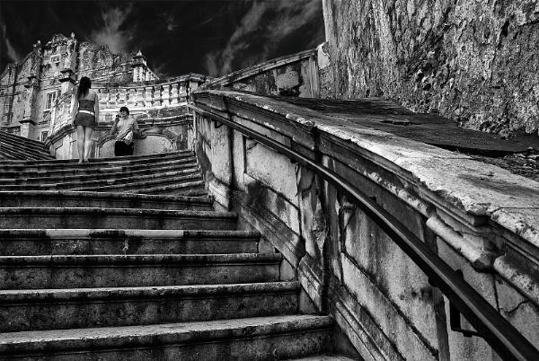 Stairway Model Dubrovnik, Croatia by Zydeco_Joe