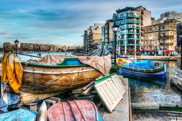 Boats at St Julians by AndrewAlbert