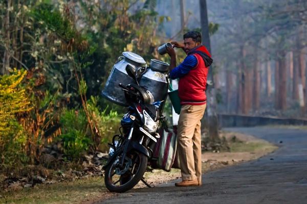 Milkman in rural india by bobbyl