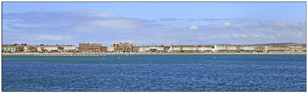 Weymouth seafront from the Stone Pier. by tedtoop