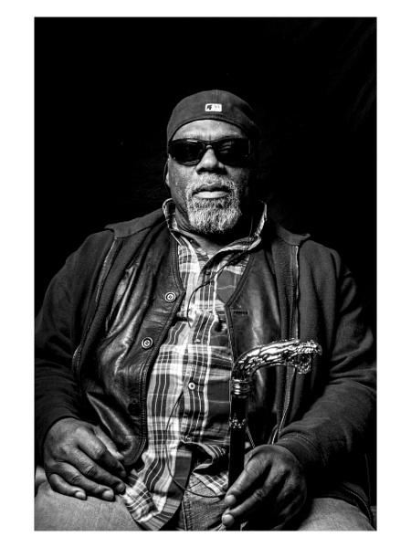 Man with cane by JeffHubbardPhotography