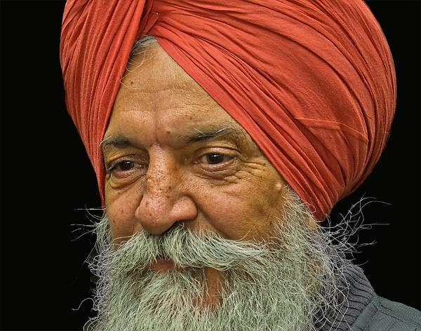 Sikh Man Posing