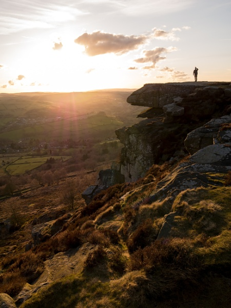 The Lookout Curbar Edge Peak District Derbyshire by RoyChilds