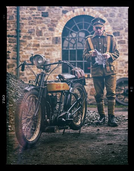 Westovian motorbike and rider by Gordonsimpson
