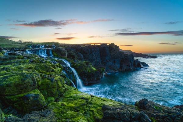 Dunseverick Falls Sunset by LMK_Photography