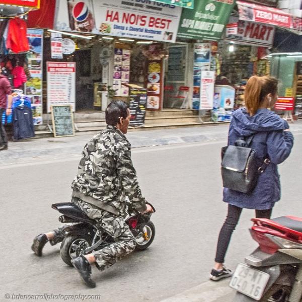 Micro motorbike, Hanoi, Vietnam by brian17302