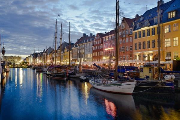 Copenhague al atardecer