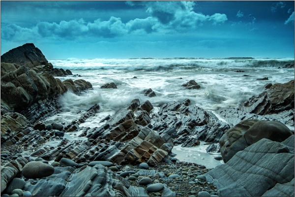 Stormy Sandymouth by DTM