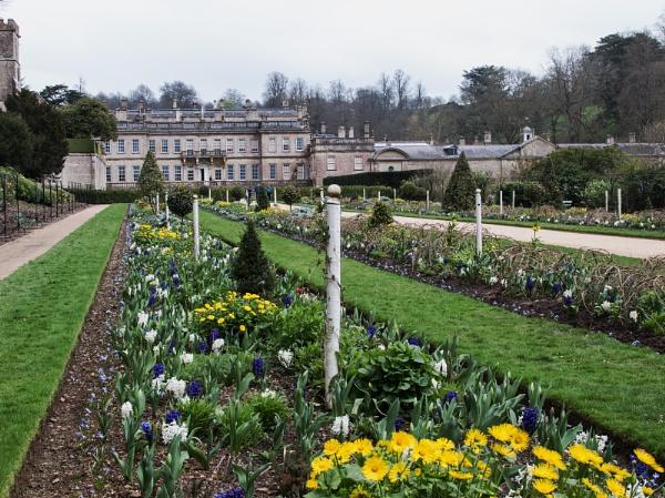 Spring gardens at Dyrham park