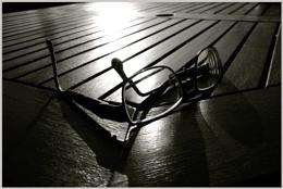 No Sun Glasses But Glasses In The Sun
