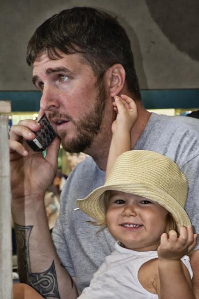 I\'ve got Daddy\'s ear! by jbsaladino