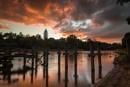 Sunrise Over the Waikato River by jasonrwl