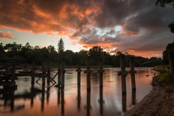 Sunrise Over the Waikato River