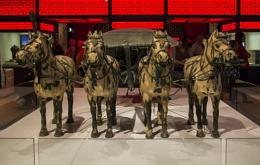 Terracotta Chariot & Horses