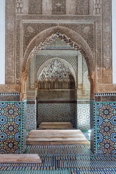 Oriental temple interior by rninov