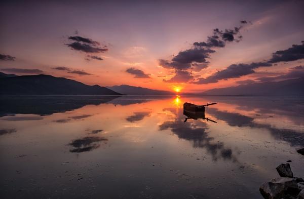 Lake Kerkini sunset