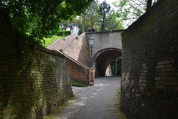 recess in fortress Citadela Wysegrad by lubbrez