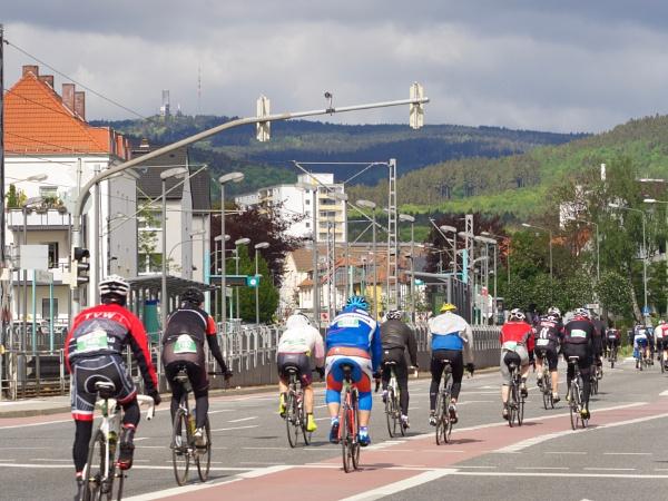 \'Der Radklassiker\' - a classic Frankfurt-Eschborn bike race by hrsimages