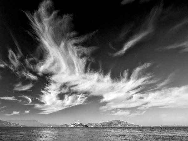 Sky over Alcatraz by tonyheps