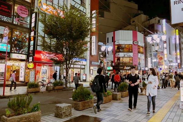 Night street view in Tokyo