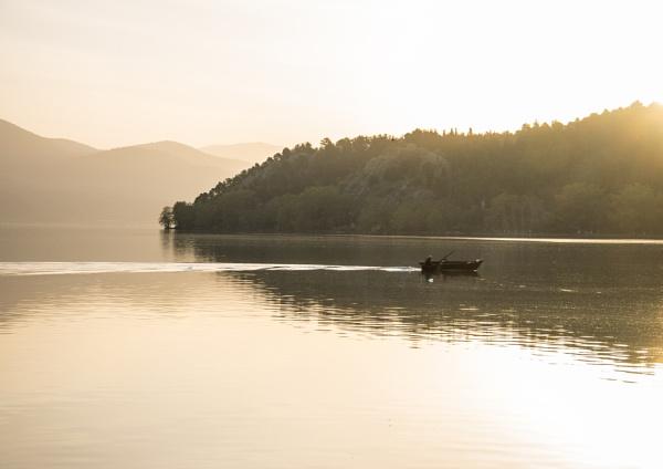 Sunrise - Lake Kastoria by jimobee