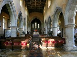 the village church in Aldbourne,Wiltshire.