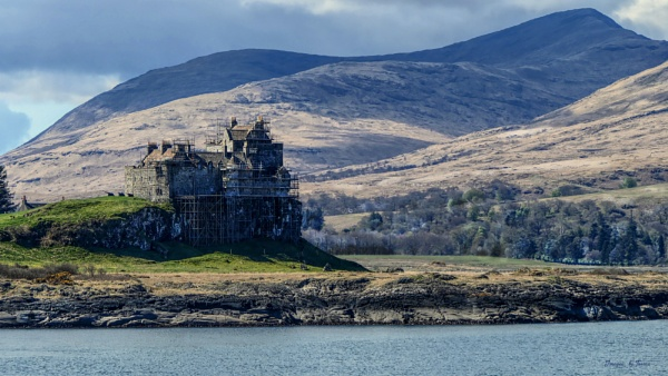 Duart Castle from the Firth of Lorn.
