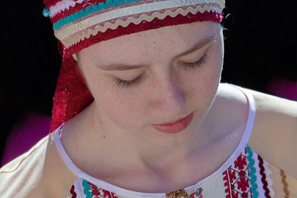 Girl in folk dress