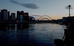 Evening on the Tyne.