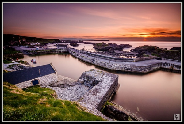 """Ballintoy Harbour Sunset\"" by DavidLaverty"