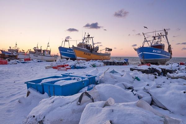 Hastings fishing beach, East Sussex, England.