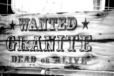 Wanted sign, Granite