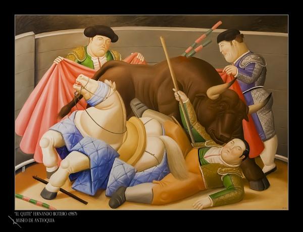 El quite, Fernando Botero, museo de Antioquia. by Azteca