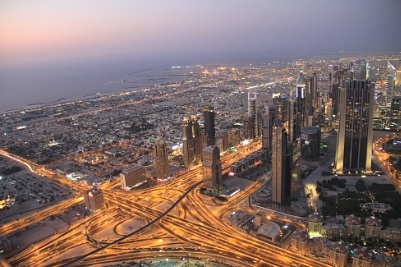 From the top Burj Khalifa in Dubai was the picture