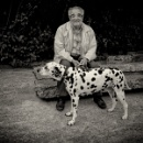 an old man and his dog by leo_nid
