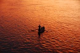 Nile river boatman