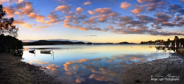 Caroline Bay Sunrise Panorama by kmorgan3