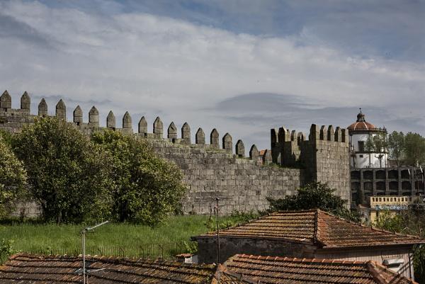 Old City Wall, Porto, Portugal.