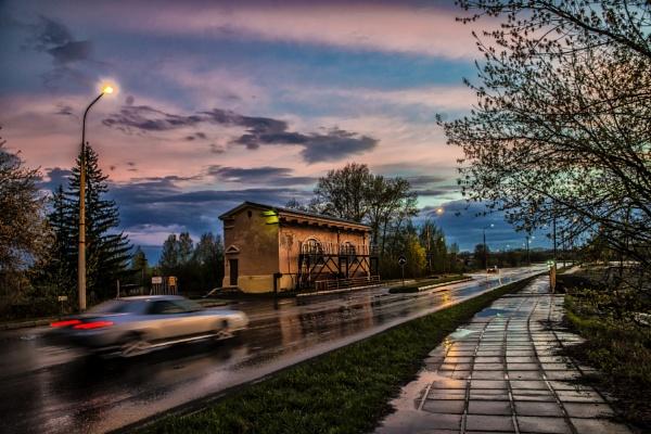rainy evening by zdumus