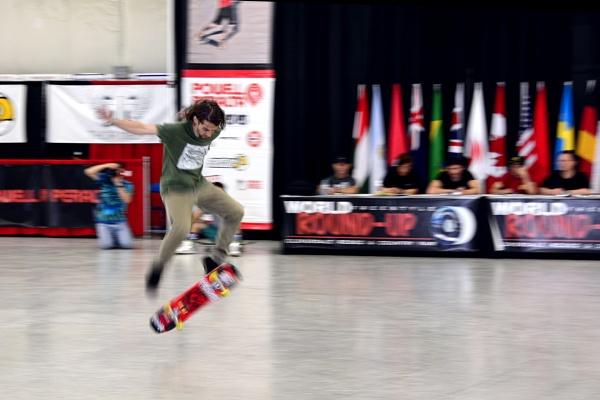 Skateboarder in Motion by RSK