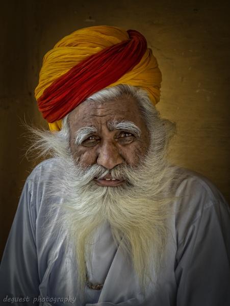 Men of Mehrangarh Fort Jodhpur Rajasthan India by deguest