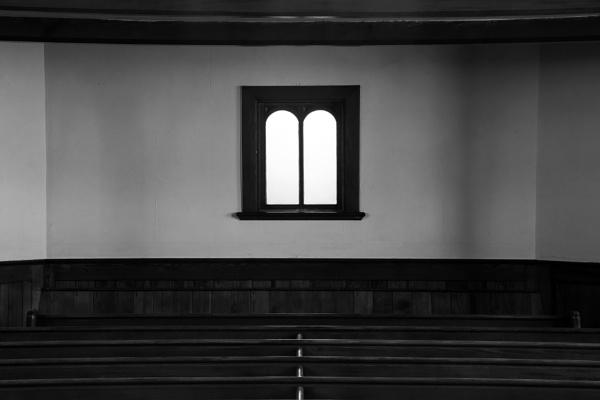 Church window B/W by Madoldie