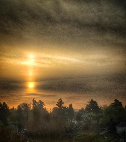 Sunrise Reflection April, 2018 by knottone1