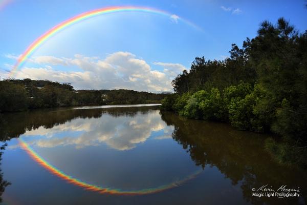 Terrigal Lagoon Rainbow by kmorgan3