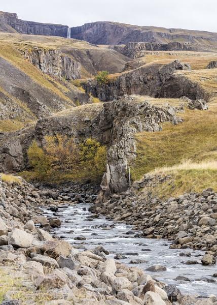 Hengifoss waterfall in Iceland by pdunstan_Greymoon