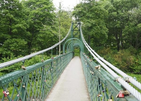 Suspension Bridge Pitlochry Scotland by caj26