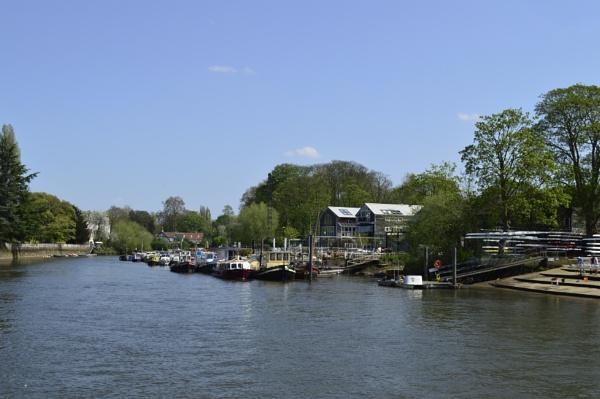 River Thames in Twickenham London Uk.