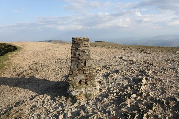Helvellyn Cumbria, summit
